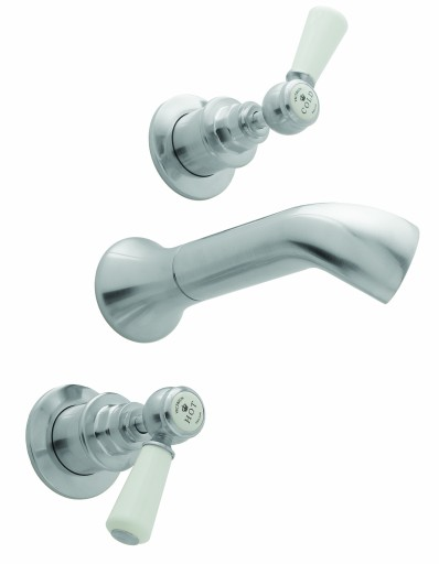 CTB130BC 3H Bath Filler Lever Brushed Chrome