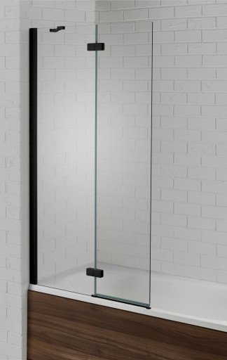 V6AQ6003L-BLKHinged Bath Screen Black