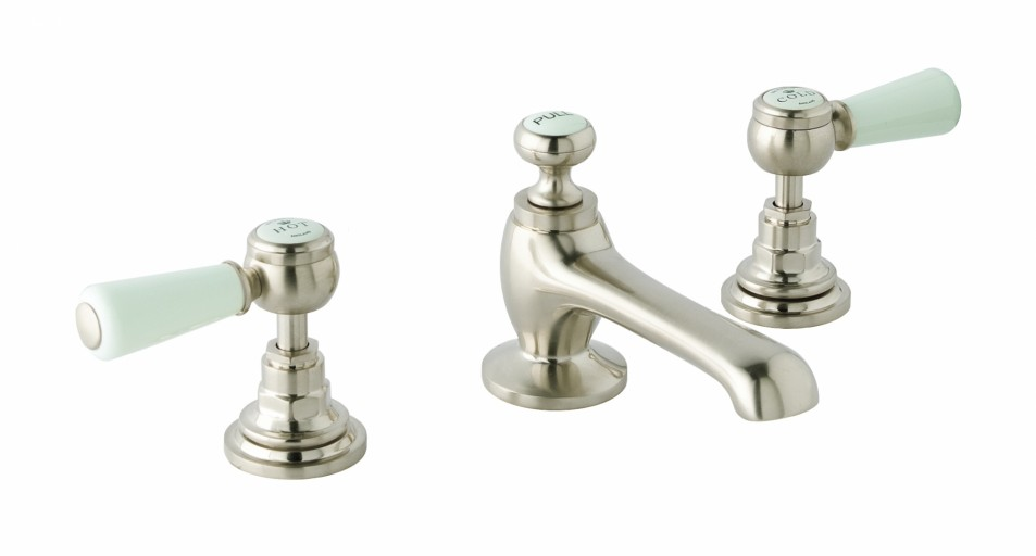 CTB125BN 3H Deck Basin Mixer Lever Brushed Nickel