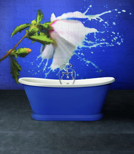 BAZ901 No6 Blue Mural Boat Bath